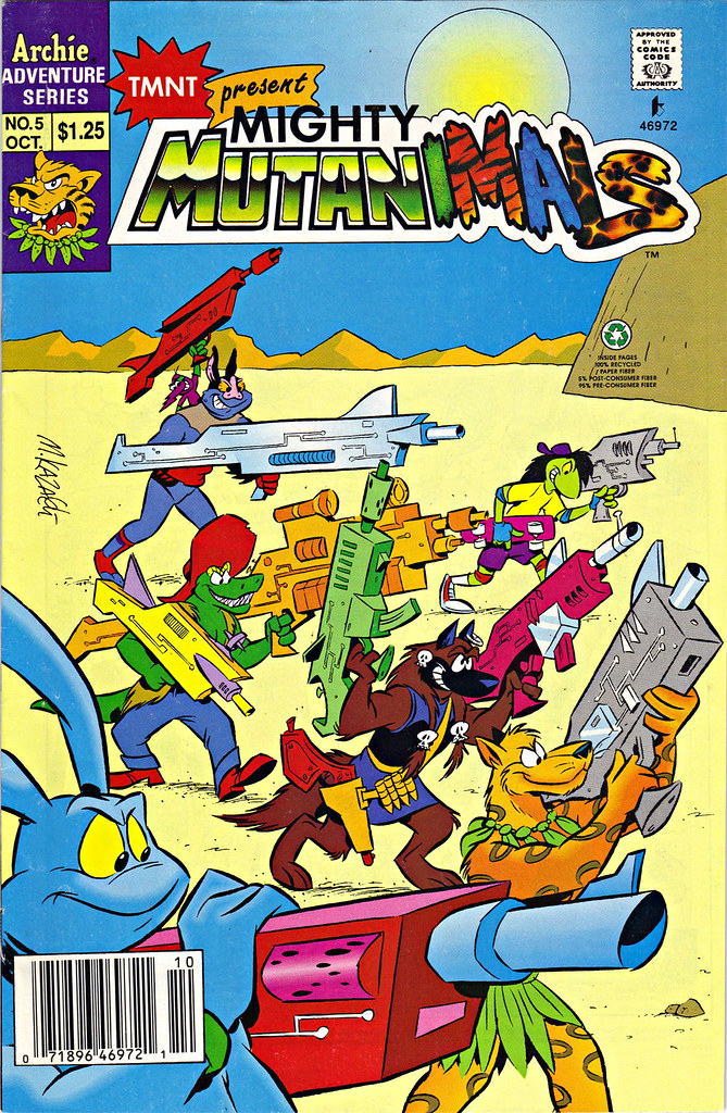 Mighty Mutanimals #5 ..cover art by Mike Kazaleh  (( 1992 )) by tOkKa