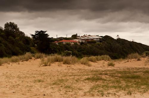houses sea sky storm tourism beach home nature seaside australia victoria leisure aus seashore sanddunes laketyers