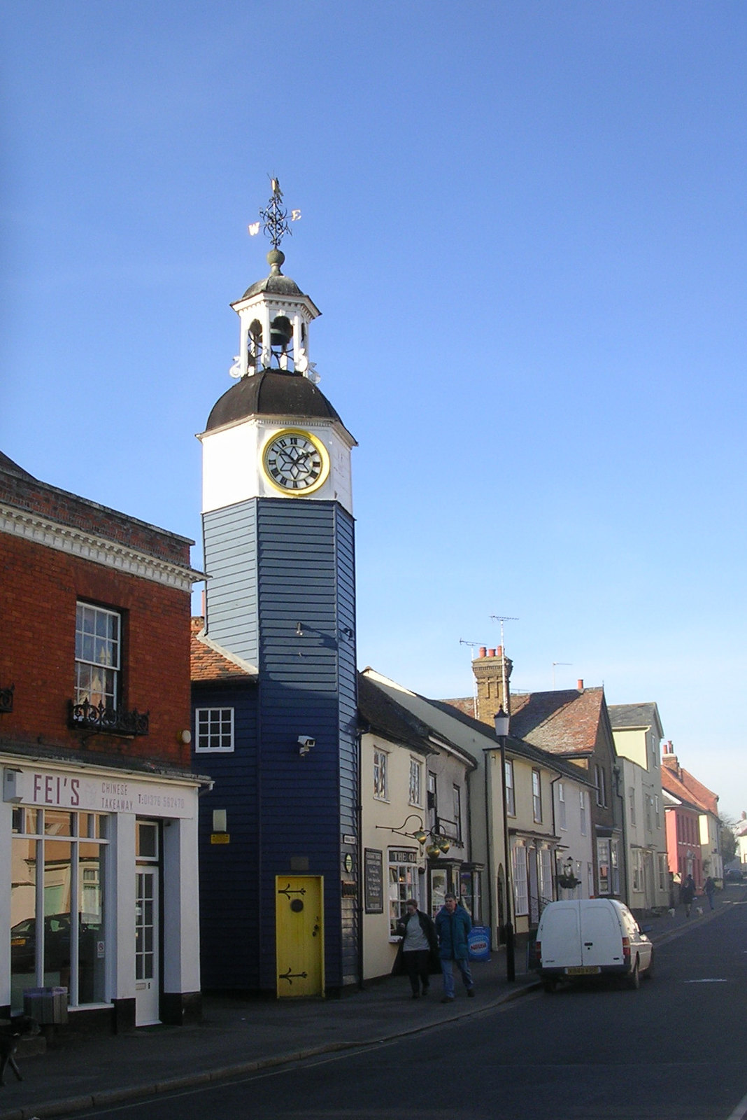 Clock tower, Coggeshall Kelvedon circular. It's Victorian
