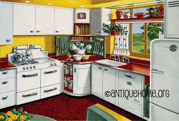 Mixing Corner - 1950s Kitchen Design in Red and Yellow   Flickr