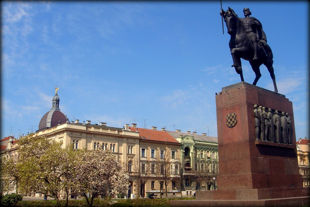 King Tomislav Statue Or Spomenik Kralja Tomislava In Zagre Flickr