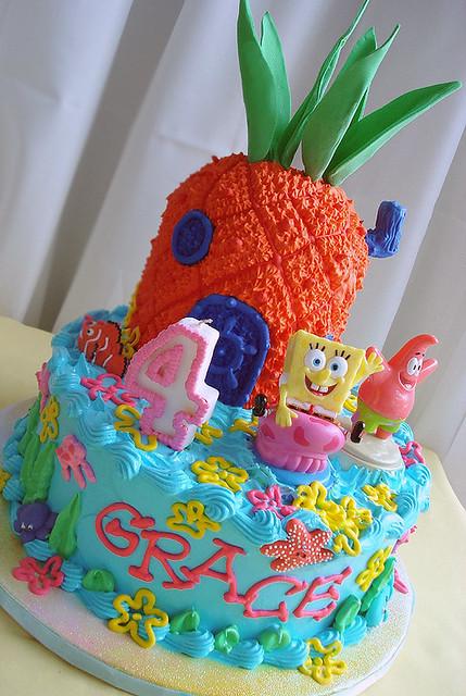 Brilliant Spongebob Squarepants Cake 2 Cake For My Niece Graces Imp Flickr Birthday Cards Printable Inklcafe Filternl