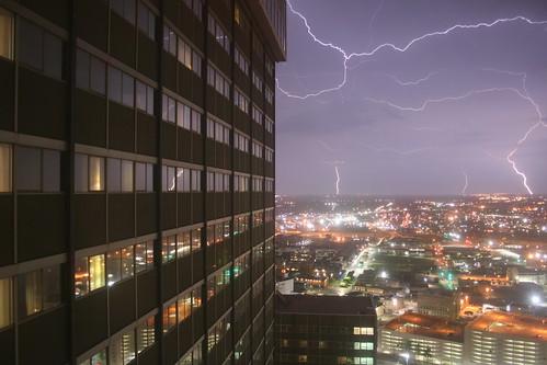 light storm window weather night project hotel dallas texas view bright lightning sheraton projectweather