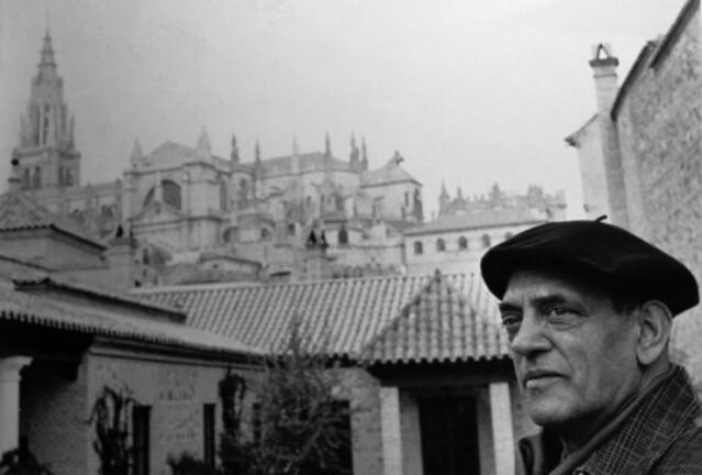 Buñuel en en el Palacio de Munárriz en Toledo (Foto Carlos Saura)