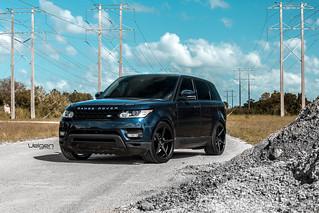 Blue Range Rover Sport On Velgen Wheels Classic5 Satin Bla