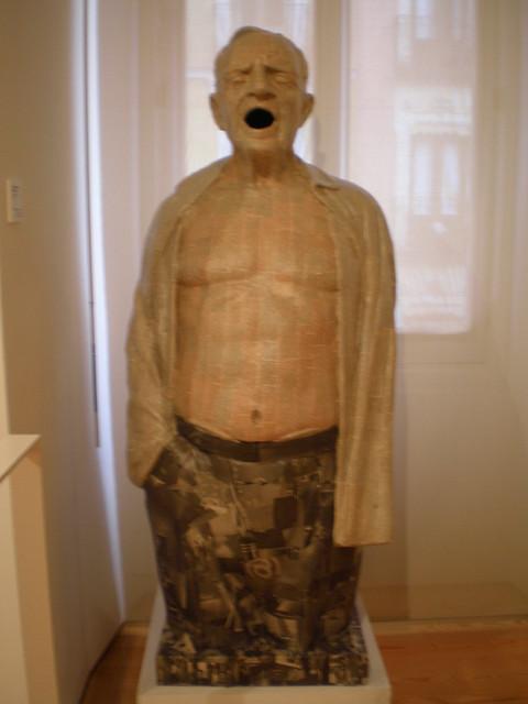 Y Jesús de la Luz 'Ceballos, Hombre gritando' 2000, Museo Municipal de Arte Contemporáneo, Madrid