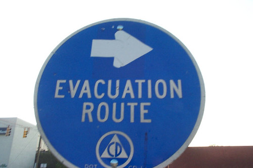 Evacuation Route Sign | by taberandrew