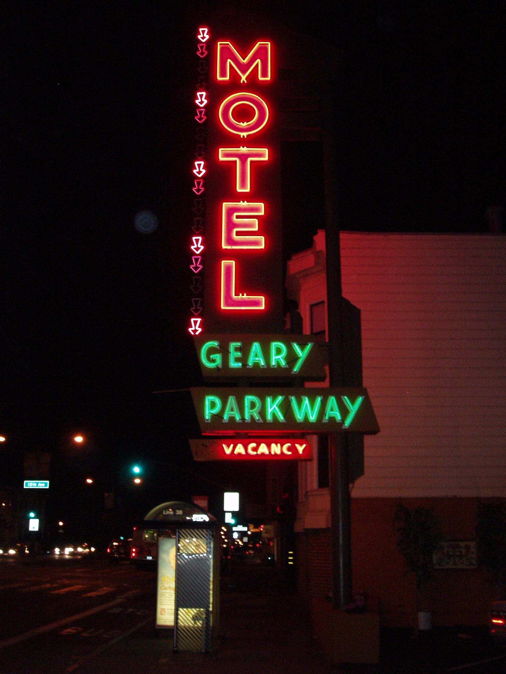 Geary Parkway Motel - 4750 Geary Boulevard, San Francisco, California U.S.A. - November 29, 2007