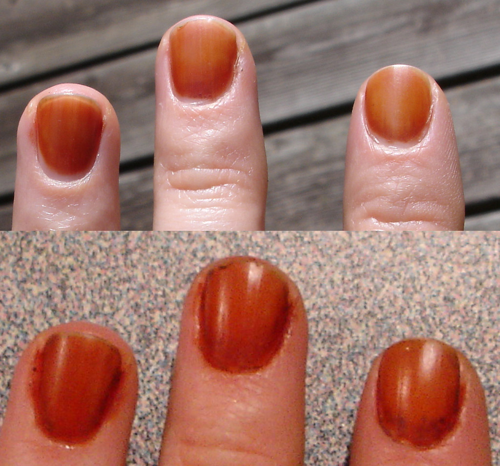 Henna and Cochineal on nails   So top picture is 2 applicati…   Flickr