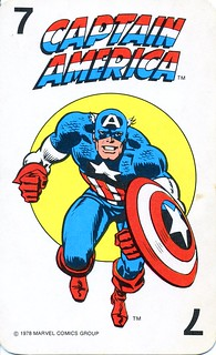 Marvel Comics Superheroes Game Card 07 - Captain America | by RedRaspus