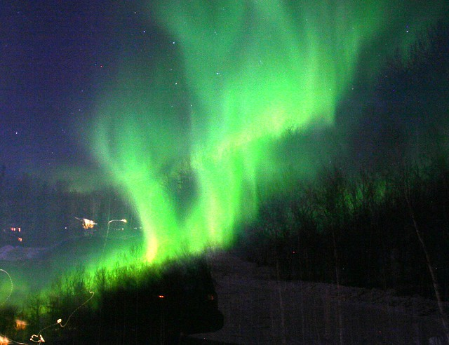Northern Lights over Fairbanks - I think the tripod moved on this one! (IMG_4580a)
