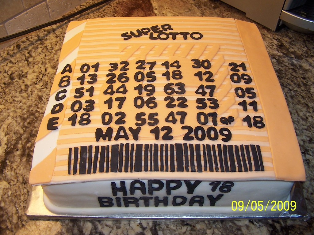 California Lotto Cake   This is a 12