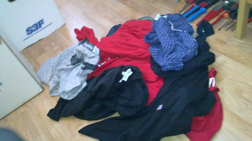 Clothes in a pile