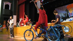 Pedal Powering Youth Speaks assembly at Lincoln High School   by Rock The Bike