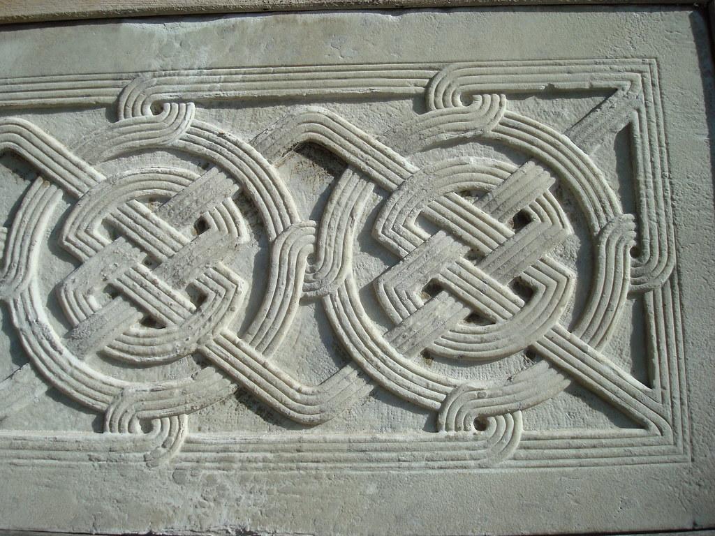 Byzantine Weave Pattern in Marble