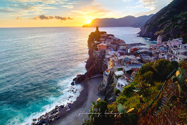 Sunset Village of Vernazza