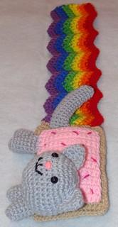 Nyan Cat Amigurumi - Kawaii Rainbow Pop Tart Kitty Hand Crocheted ... | 320x166