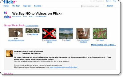 Flickr: We Say NO to Videos on Flickr | by shinyai