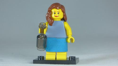 Brick Yourself Custom Lego Figure Sweet Girl with Bottle   by BrickManDan