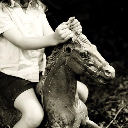on white horses