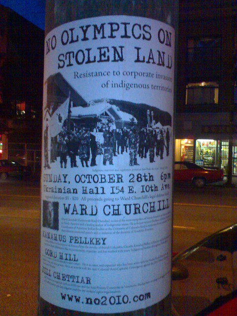 No Olympics on Stolen Land