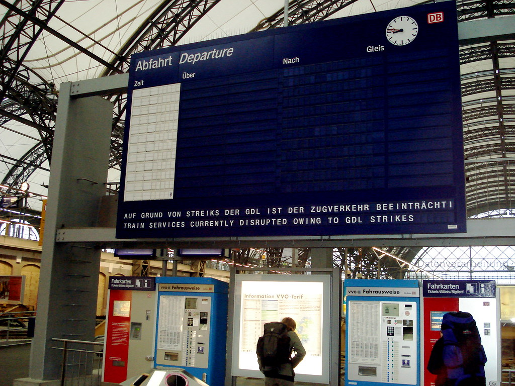 Bahn Streik David Basanta Flickr