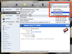 Extended Search Options in 1Password 2.5.7 | by roustem