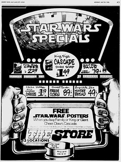 Ad - Cascade Cheer Dawn - Star Wars Special - Free Posters - Deseret News - Salt Lake City - 1978-05-29