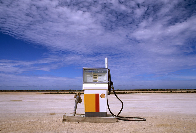 Fuel stop on the Nullabor Plain