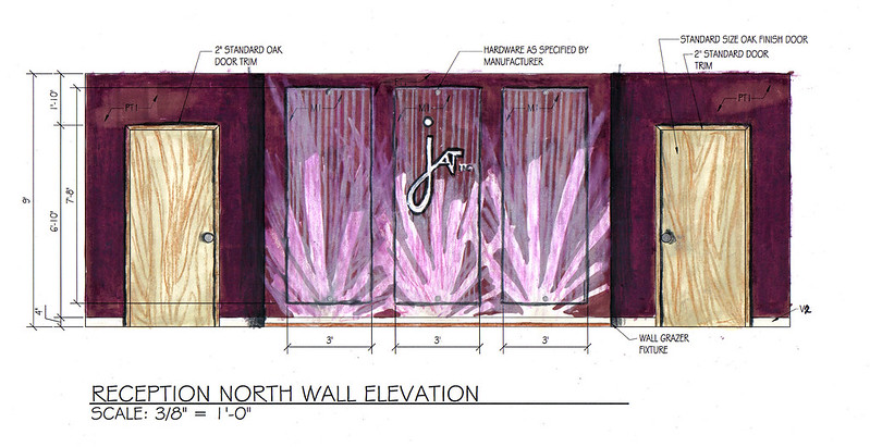 Reception Wall Elevation