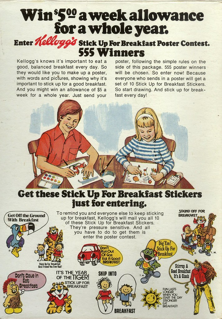 Stick Up For Breakfast 1973 | Kellogg's Sugar Smacks cereal