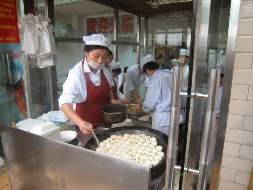 yang's fry dumpling window