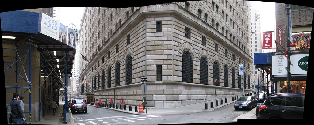 Federal Reserve Bank Of New York Building Panorama Flickr