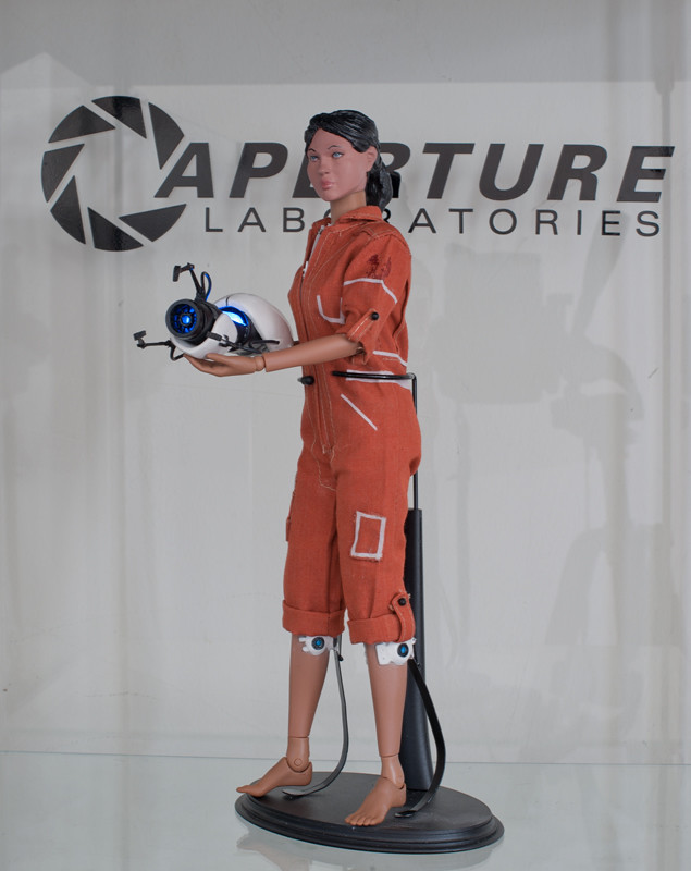 Custom Portal Toy A 1 6 Custom Toy Of Chell And The Apertu
