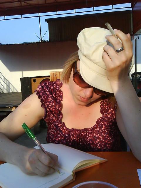Paula writes the diary