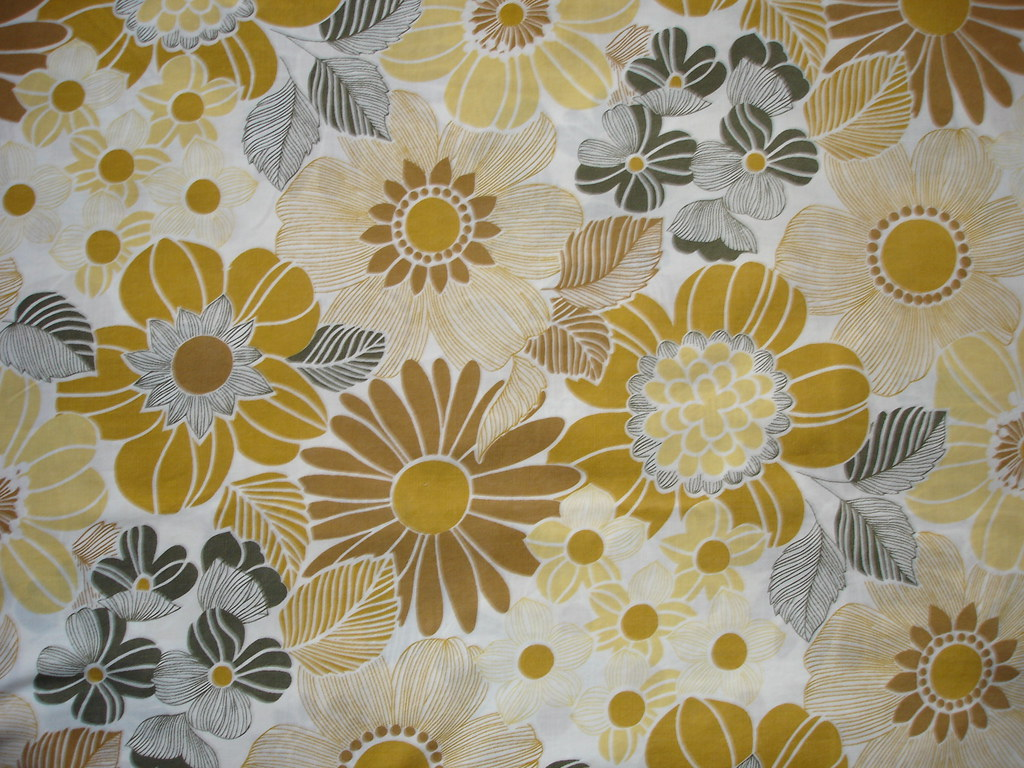 Brown Floral 1960s Fabric I Am Now A Windbreak Chrissy