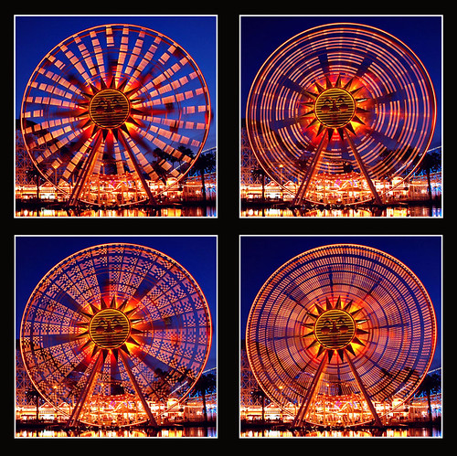 california county orange sun wheel night long exposure disneyland ferris disney adventure anaheim sunwheel