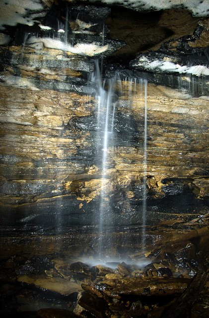 Waterfall in Tater Cave, Putnam Co, TN