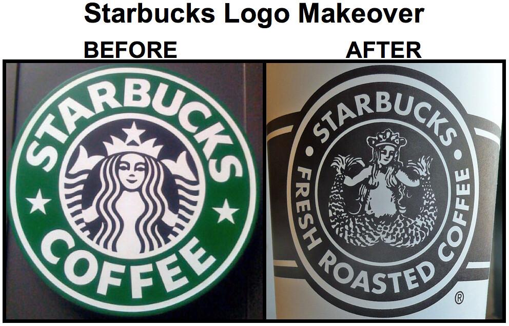 Starbucks Old Logo Vs New Logo Too Much Obscene Star