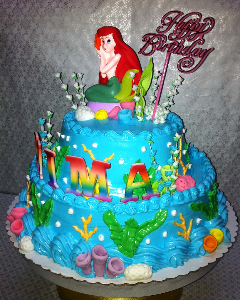 Brilliant Mimas Little Mermaid Birthday Cake Sweet Creamz Flickr Funny Birthday Cards Online Elaedamsfinfo