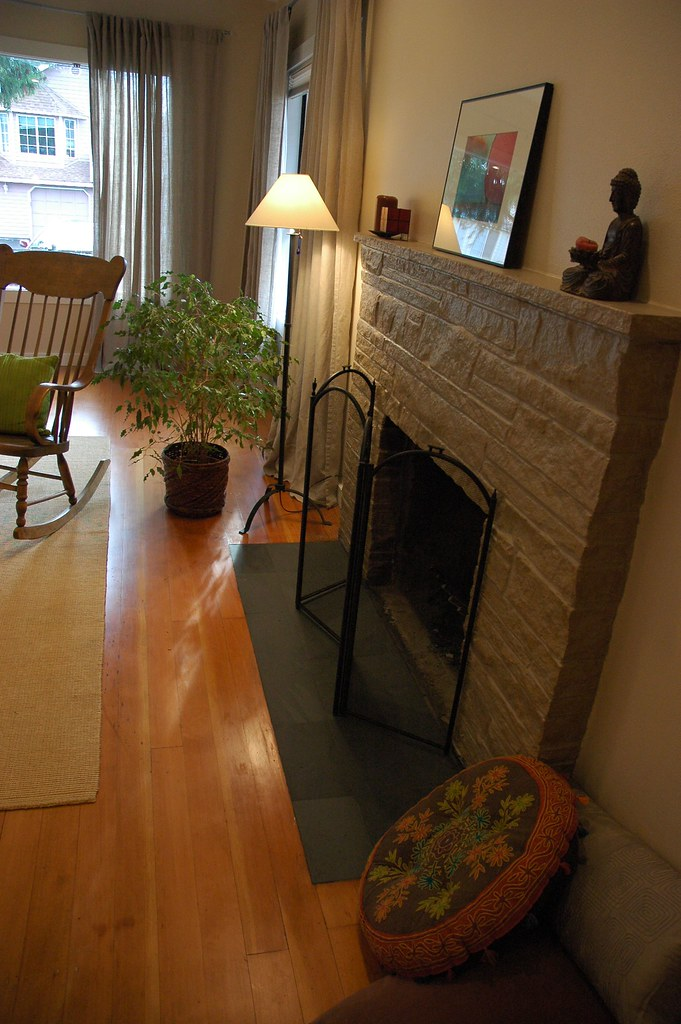 Complete Makeover Painted Fireplace Refinished Floor Z Flickr