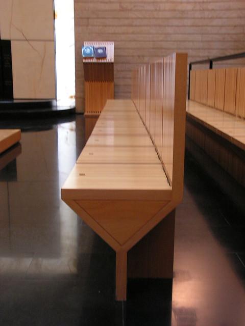 Mario Botta synagogue at TLV university bench indoor