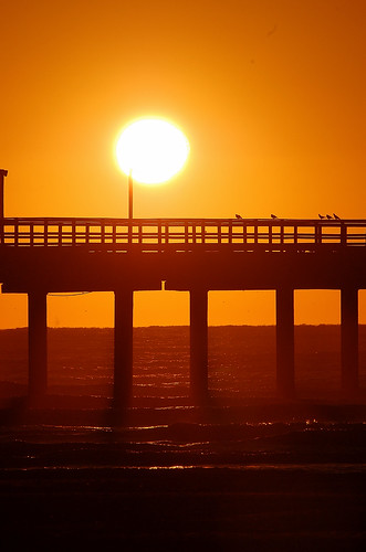 sunrise pier portaransas platinumphoto aplusphoto