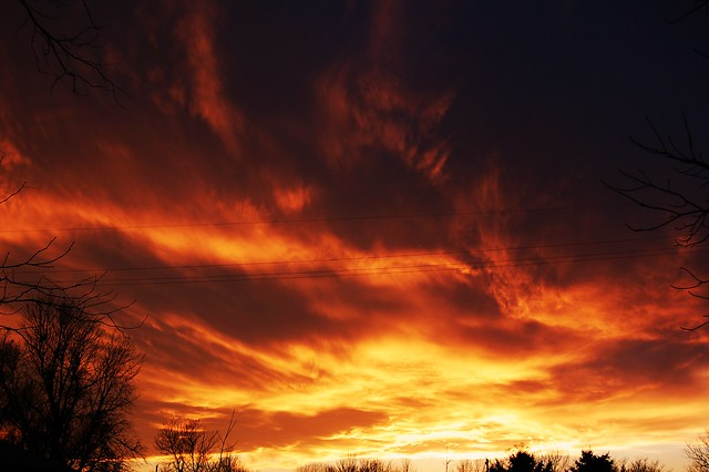 040211 -  Natures Fire in our Nebraska Sky