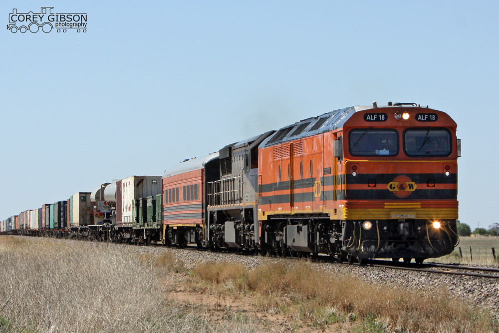 ALF18 & VL362 Two Wells with a Darwin to Adelaide freight by Corey Gibson
