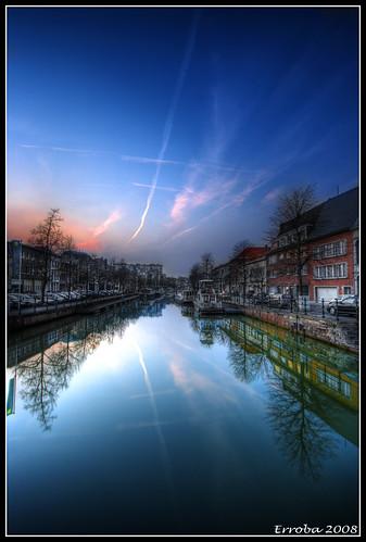 sunset canon reflections river belgium sigma 1020mm erlend hdr mechelen dijle supershot 400d mywinners goldstaraward erroba robaye erlendrobaye