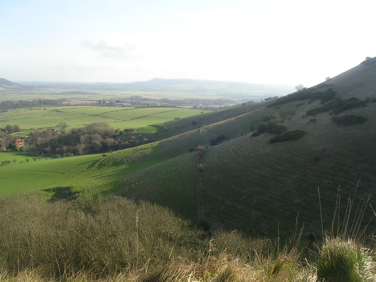 view from the downs Lewes to Saltdean via Rodmell.
