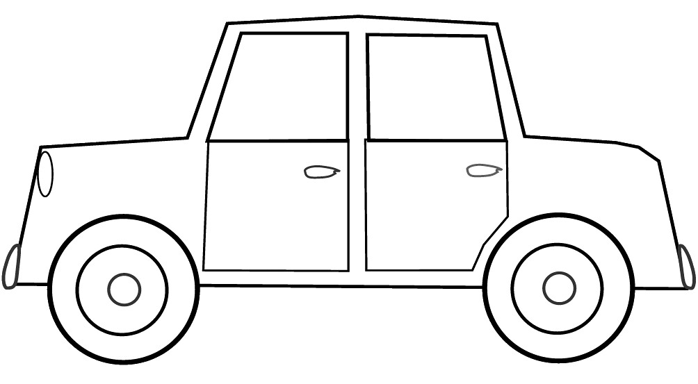 Car Sketch Clipart To Colour 17cm Long This Clipart Drawi Flickr