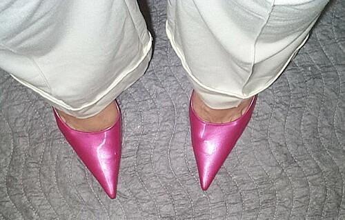68ec0c2e5 My veiw Nine West hot pink pumps   Shawn   Flickr