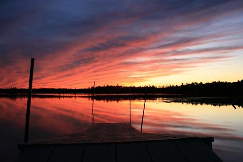 pink sunset reflection water wow dock nh weeklysurvivor lakemassabesic massabesic interestingness469 i500 claireslanding